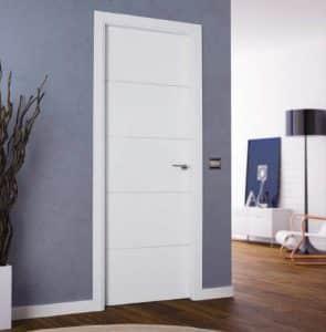 A white internal door