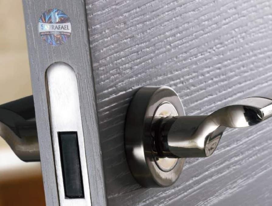 A door handle.